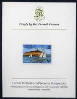 Grenada - Grenadines 1975 Yachts 1/2c Imperf Proof Format International Proof Card (as SG 111) - Grenada (1974-...)