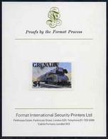 Grenada 1982 Famous Trains $1 German Federal Railway Steam Loco Imperf Proof Format International Proof Card As SG 1216 - Grenada (1974-...)