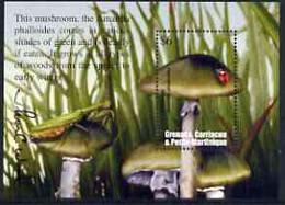Grenada - Grenadines 2002 Flora & Fauna Perf M/sheet (Amanita Mushroom), Signed By Thomas C Wood The Designer, U/m - Grenada (1974-...)
