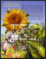 Grenada - Grenadines 2002 Flora & Fauna Perf Composite Sheetlet 6 Values (Insects), Signed By Thomas C Wood The Designer - Grenada (1974-...)