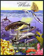Grenada - Grenadines 2002 Flora & Fauna Perf Composite Sheetlet 6 Values (Whales & Sea Bed), Signed By Thomas C Wood The - Grenada (1974-...)