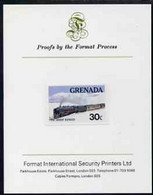 Grenada 1982 Famous Trains 30c Orient Express Imperf Proof Format International Proof Card As SG 1212 - Grenada (1974-...)