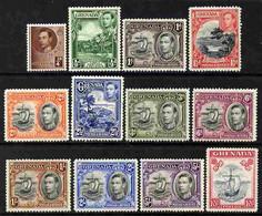 Grenada 1938-50 KG6 Definitive Set Of 12 Complete Mounted Mint SG 152-63e - Grenada (1974-...)