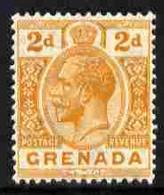 Grenada 1921-32 KG5 2d Orange Script CA With Plate Variety 'white Eye' Fine Mounted Mint SG 116var - Grenada (1974-...)