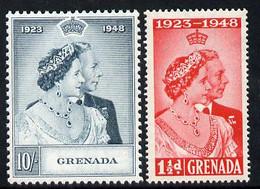 Grenada 1948 KG6 Royal Silver Wedding Set Of 2 U/m SG 166-67 - Grenada (1974-...)