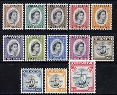 Grenada 1953 QEII Def Set 1/2c To $2.50 Mounted Mint (top Value U/m), SG 192-204 - Grenada (1974-...)