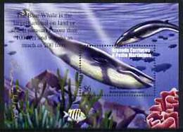 Grenada - Grenadines 2002 Flora & Fauna Perf M/sheet (Blue Whale), Signed By Thomas C Wood The Designer, U/m - Grenada (1974-...)