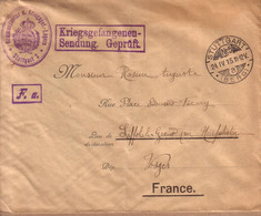 ALLEMAGNE , VOSGES - KRIEGSGEFANGENENSENDUNG - LETTRE CAMP DE STUTTGART 2 POUR LIFFOL LE GRAND - 1915 - Covers & Documents