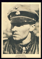 Sammelbild Wie AK 2. WK , Portrait Standartenführer Joachim Peiper - War 1939-45