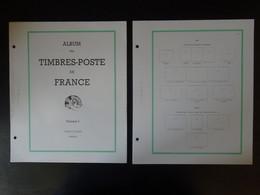 Feuilles Yvert Et Tellier France FO Sans Pochette De 1849 à 1959, Ensemble De 113 Pages Neuves Bord Vert - Pre-Impresas