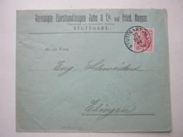 1906 , Stuttgart , Brief Mit  Firmenlochungen , Perfin - Covers & Documents