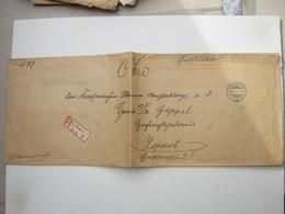 1911 , Marinesache , Einschreiben Aus Berlin Mit Rs. Vignette Marine - Covers & Documents