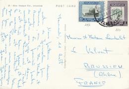 JORDANIE AFFRANCHISSEMENT COMPOSE SUR CARTE POUR LA FRANCE 1965 - Giordania