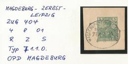 "1 207 Briefstück Bahnpost ""MAGDEBURG-ZERBST-LEIPZIG"" 1901 - Covers & Documents"