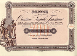 AZIONE CANTIERE NAVALE TRIESTINO 1919/1923 TRIESTE LIRE 200 - A - C