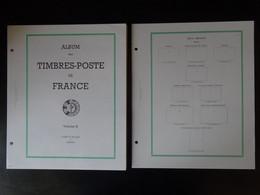 Feuilles Yvert Et Tellier France FO Sans Pochette De 1969 à 1990, Ensemble De 128 Pages Neuves Bord Vert - Pre-Impresas