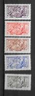 1955 - 415 à 419 *MH - Sceau Du Prince - Unused Stamps