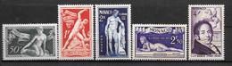1948 - 314 à318 **MNH  - Sculpteur Bosio - Unused Stamps