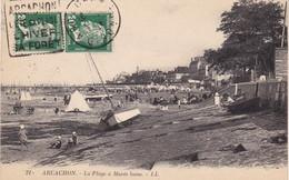 33. ARCACHON. CPA. LA PLAGE A MAREE BASSE. ANNÉE 1931  + TEXTE - Arcachon