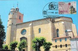 SPAIN. MAXICARD FIRST DAY. SANTA MARIA DEL JUNCAL CHURCH. IRUN. 2021 - Cartes Maximum
