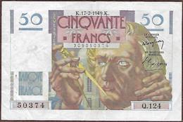 France - 50 Francs Le Verrier 17 2 1949 1 Billet - 50 F 1946-1951 ''Le Verrier''