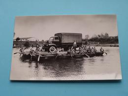 Vrachtwagen / Camion Transporté Par Radeaux / Vlot > Belgisch Leger ( Selection ) Anno 1965 ( Zie / Voir / See Photo ) ! - Equipment