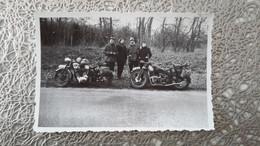 PHOTO ANCIENNE - 2 MOTOS - MOTO - Automobili