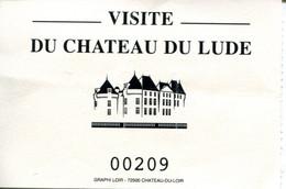 Château Du Lude (Sarthe - France) 2021 - Tickets - Vouchers