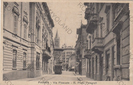 CARTOLINA  PARMA,EMILIA ROMAGNA,STRADA PISACANE-R.POSTE TELEGRAFI,STORIA,RELIGIONE,CULTURA.VIAGGIATA 1935 - Parma