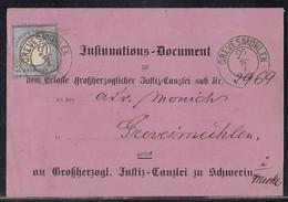DR Insinnations-Document EF Minr.20 Nachv. K2 Grevesmühlen 27.7. - Briefe U. Dokumente