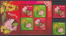 2019  Vietnam Year Of The Rat  Complete Set Of 2 + Souvenir Sheet  MNH - Vietnam