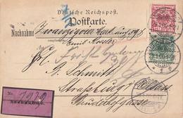 DR NN-Karte Mif Minr.46, 47 Heidelberg 21.1.00 Gel. Nach Strassburg - Covers & Documents