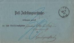 DR Post-Zustellungsurkunde K1 Uder 20.6.87 Gel. Nach KOS Heiligenstadt (Eichsfeld 20.6.87) - Covers & Documents