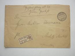 1899 , STRELITZ , Klarer Stempel Auf Einschreiben , Postauftrag , Innen Stempel Aus Neustrelitz - Covers & Documents