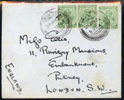 India 1923 Military Cover To London From 54th Sikhs Frontier Force, Bearing KG5 1/2a X 3 - Non Classés