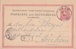 DR GS-Karte K1 Cleve 27.1.82 Gel. Nach Holland - Briefe U. Dokumente