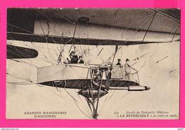 CPA (Réf: Z 3469) Nacelle Du Dirigeable Militaire LA RÉPUBLQUE En Ordre De Route (TRANSPORTS AVIATION) - Airships