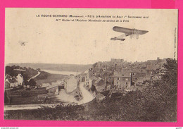 CPA (Réf: Z 3483) LA ROCHE-BERNARD (56 MORBIHAN) Fête D'Aviation Mme Richer Et L'Aviateur Montmain (TRANSPORTS AVIATION) - ....-1914: Precursores
