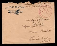 Enveloppe En-tete AVIATION MILITAIRE De Bron , En Franchise Postale , Nom De L'aviateur Avec Son Groupe , Mal Ouverte - Luchtpost