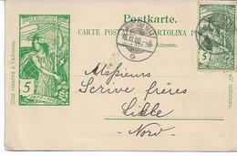 ENTIER SUISSE Jubilé De L'UNION Postale Universelle 1875-1975 Erinnophilie Vignette Du Jubilé - Interi Postali