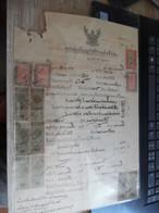 SIAM Timbre Fiscaux Sur Document Signature Avec Empreinte - Siam
