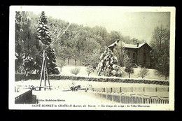 8.00€ : 42 - ST BONNET LE CHATEAU - En Temps De Neige : La Villa Charréran - Sonstige Gemeinden