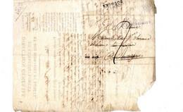 Courrier An 1820 HENRICHEMONT Direction Générale De L'enregistrement Et Des Domaines Et Forêts Forestier BOURGES - 1801-1848: Précurseurs XIX
