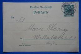 U17 ALLEMAGNE  BELLE CARTE UNIQUE RARETE 1899 DESSIN +STRASSBOURG  POUR WILLSTITH +AFFRANCHISSEMENT INTERESSANT - Covers & Documents