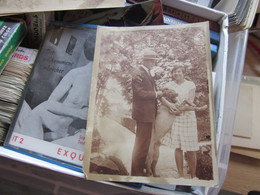 Couples Dog Old Photo Postcard - Koppels