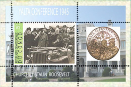 Fantasy Label Famous PRESIDENTS STALIN CHURCHILL Berühmte Präsidenten 1945 NEW! COIN ON STAMPS.NEW 15 BLOCKS! - Sir Winston Churchill