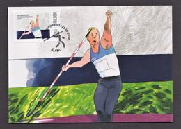 9.- ALAND 2020 MAXIMUM CARD ATHLETICS JAVELIN - Athlétisme