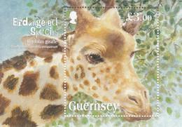 2020 Guernsey Giraffe Endangered Species Souvenir Sheet MNH @ BELOW FACE VALUE - Guernesey