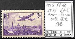 D - [847441]TB//**/Mnh-c:40e-France 1936 - PA10, 2f25 Violet, Paris, Avions - 1927-1959 Nuevos