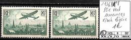 D - [847437]TB//*/Mh-France 1936 - PA8, 85c Vert, Nuances */mh Légère, Avions - 1927-1959 Nuevos